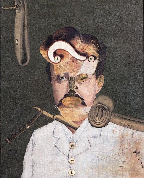 George Grosz, Souviens-toi de l'oncle Auguste, l'inventeur malheureux. Une victime de la société, 1919, Paris, Centre Pompidou
