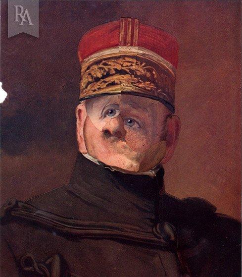René Apallec, Gueule cassée, collage à partir de photographies de L'Illustration, entre les deux-guerres
