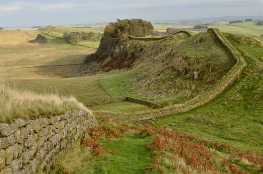 Hadrian's Wall between Scotland and England (DR)