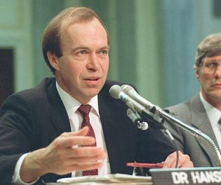 James Hansen le 23 juin 1988