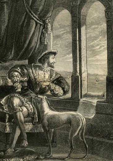François Ier méditant la fondation du Havre, bibliothèque municipale du Havre.
