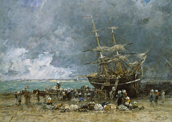 Retour du Terre-Neuvier, Eugène Boudin, 1875, National Gallery of Art, Washington.