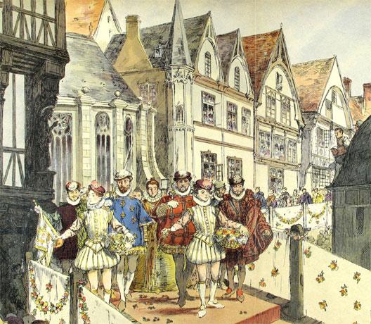 Mariage d'Henri de Navarre et de Marguerite de Valois (Hermann Vogel), G. Montorgueil, Henri IV, Paris, 1907, archives des Pyrénées-Atlantiques