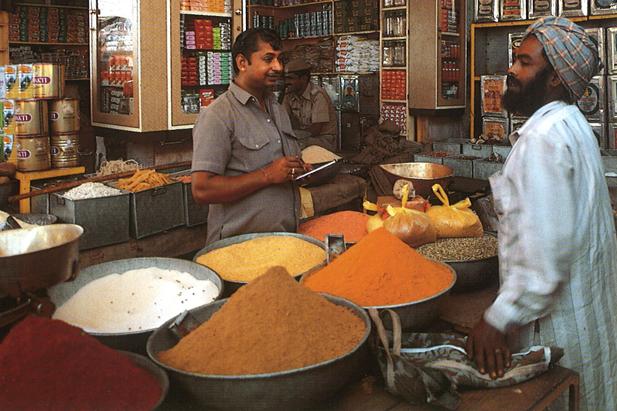 Marchand d'épices à Jodhpur (Rajasthan, Inde du nord), photo : Maximilien Bruggmann, DR