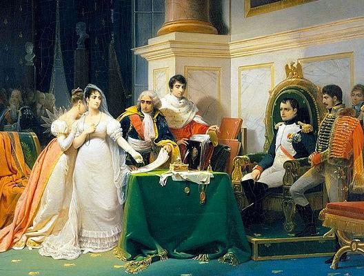 Le divorce de Joséphine et Napoléon (Henri-Frédéric Schopin, XIXe siècle, musée de la Malmaison)