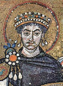 Justinien (mosaïque de l'église San Vitale, Ravenne)