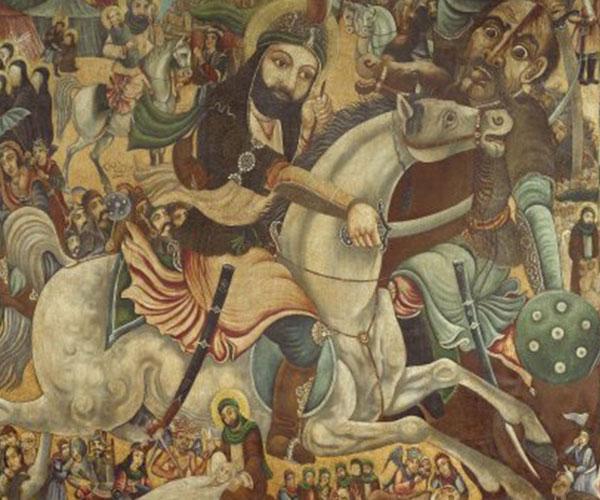 La bataille de Kerbela (ou Kerbala), en 680 (XXe siècle)