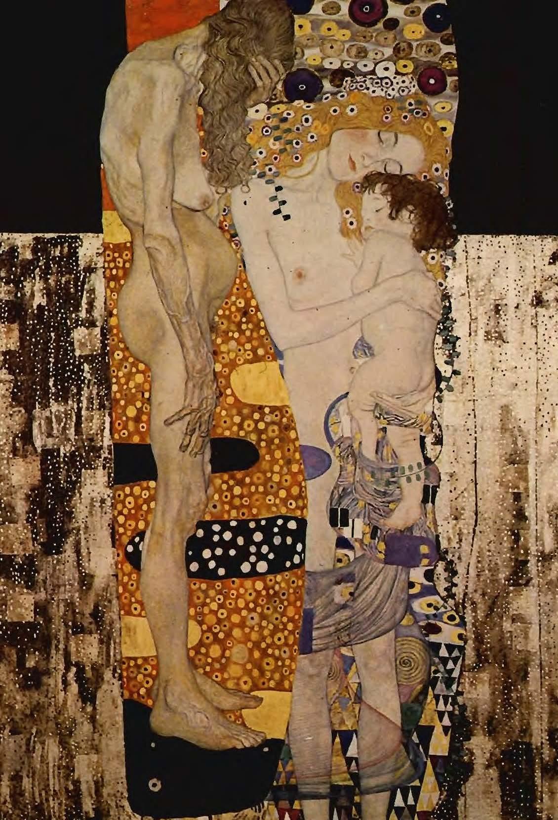 Les trois âges de la femme (1905, Gustav Klimt, Rome, Galleria Nazionale d'Arte Moderna)