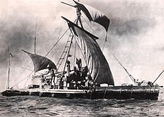 7 août 1947: Arrivée triomphale du Kon Tiki en Polynésie - L'Impartial - Notre Credo, La Neutralité