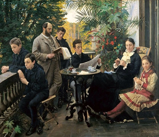Peder Severin Kroyer, La Famille Hirschsprung, 1881, Hirschsprung Collection, Copenhague.