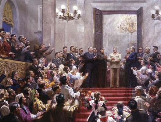 La gloire du Grand Staline (peinture de Kugatsch, 1950)