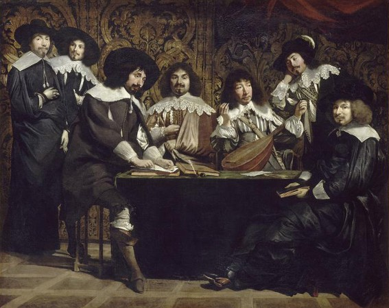 Louis le Nain (?), L'Académie dit aussi Réunion d'amateurs, 1640, Paris, musée du Louvre