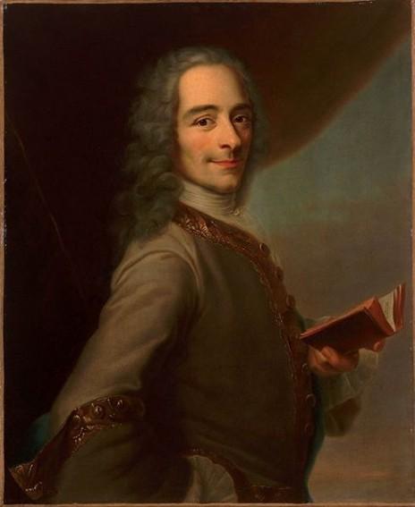 Copie du tableau perdu de Quentin de la Tour, Portrait de Voltaire, début XIXe s., Château de Versailles