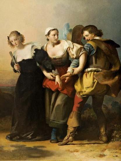 Alexandre Évariste Fragonard, Don Juan, Zerlina et Donna Elvira, 1830, musée d'art Roger-Quillot, Clermont-Ferrand
