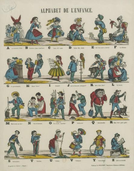 Alphabet de l'enfance, 1857, Paris, Bnf