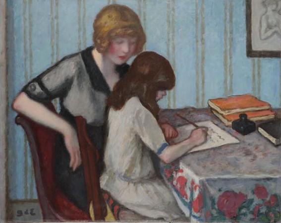 Georges d'Espagnat, La Dictée, 1915, Roubaix, La Piscine, musée d'Art et d'Industrie André Diligent