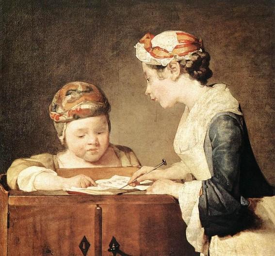 Jean-Baptiste Chardin, La Jeune maîtresse d'école, 1736, National Gallery, Londres