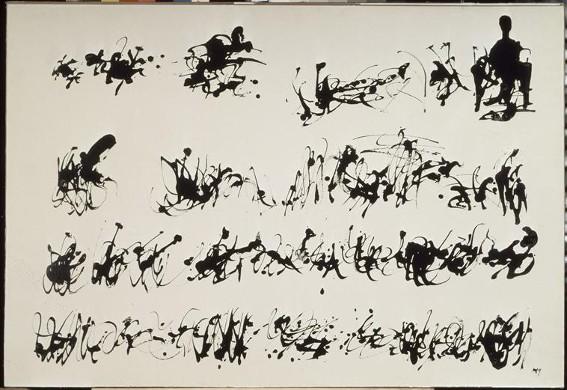 Henri Michaux, Peinture à l'encre de Chine n°2, 1959, Paris, Centre Pompidou
