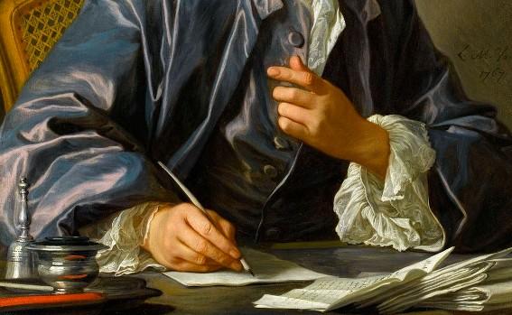 Denis Diderot, écrivain (détail, 1767, Louis-Michel Van Loo, musée du Louvre)