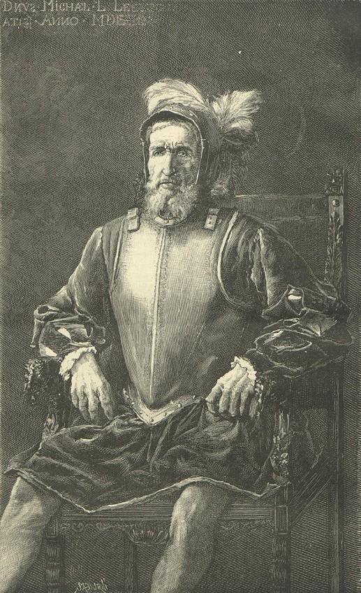 Miguel López de Legaspi  (vers 1502 ; 20 août 1572) (gravure tirée de la revue La Hormiga de Oro, 16 April 1887)