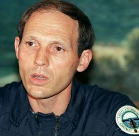 Le capitaine Philippe Legorjus après l'assaut de la grotte d'Ouvéa (mai 1988), DR