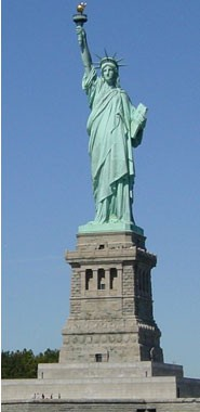 La statue aujourd'hui : Liberty enlightning the World