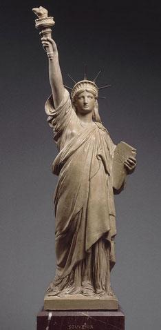 Maquette de la statue de la Liberté éclairant le monde (vers 1885)