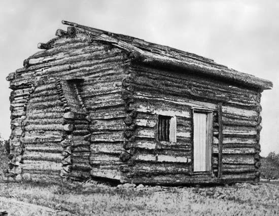 Réplique de la maison natale d'Abraham Lincoln, à Hodgenville (Kentucky)