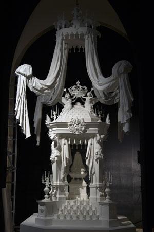 Le Roi est mort !, Mise en scène de la mort de Louis XIV (Versailles)