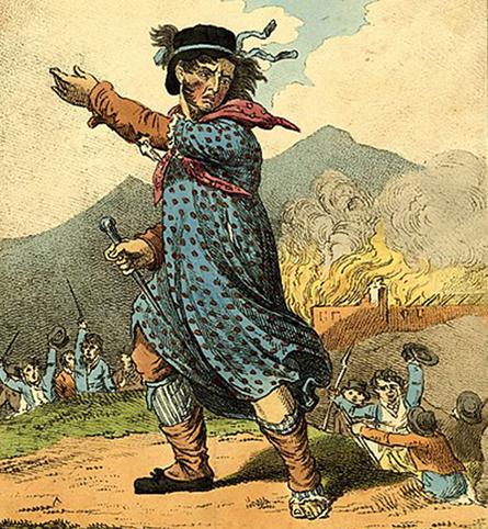 Le chef des luddites, gravure anonyme publiée en 1812