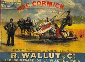 Publicité pour une moissonneuse Maccormick