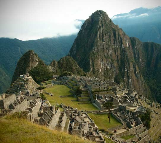 Machu Picchu, vue d'ensemble( (photo : Caroline et Hubert Rameye, 2013)