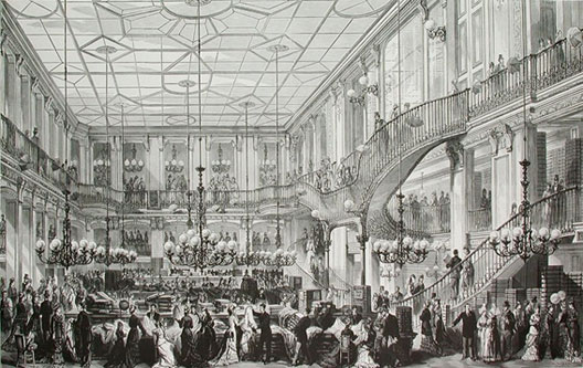 Grands Magasins du Louvre, le hall Marengo, BnF, Paris.