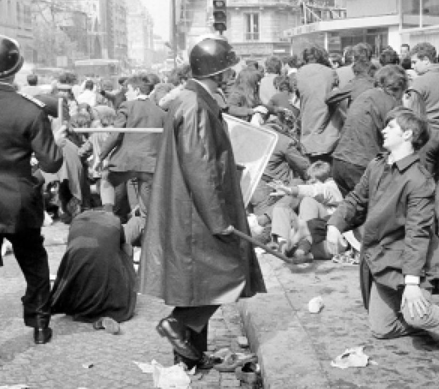 Manifestation du 6 mai 1968, rue Saint-Jacques à Paris (DR)