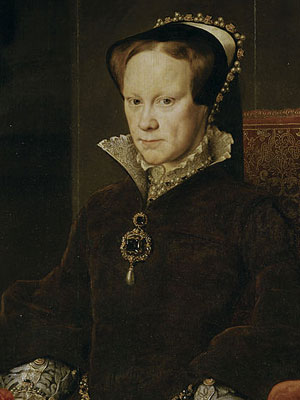 Mary I Tudor (February 18, 1516 – November 17, 1558), portrait by Antonio Moro (Prado Museum, Madrid)