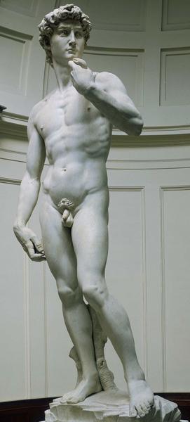 David par Michel-Ange (1501, Florence), DR