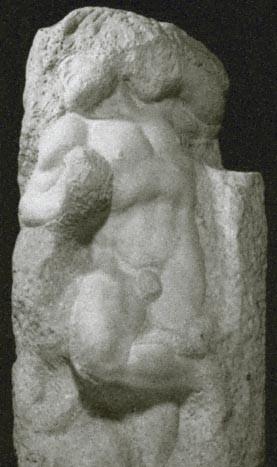 L'esclave s'éveillant, tombeau de Jules II (1519-1536, Michel-Ange, Galerie de l'Académie, Florence)