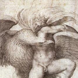 Zeus et Ganymède (dessin de Michel-Ange)