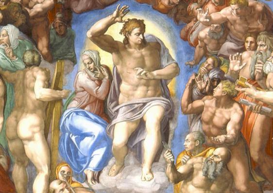 Le Jugement Dernier Christ Et La Vierge Detail 1534 1541