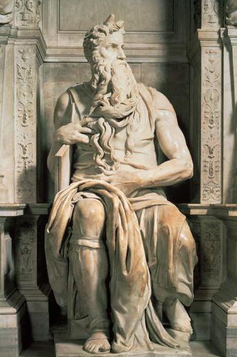 Moïse, tombeau de Jules II (1503, Michel-Ange, église Saint-Pierre aux Liens, Rome)