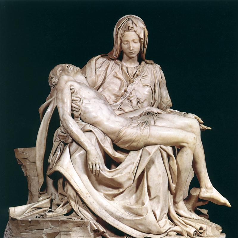La Pieta De Michel Ange 1498 Saint Pierre Rome