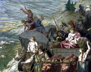 Une vision très contemporaine et allemande des Migrations de peuples germains (DR)