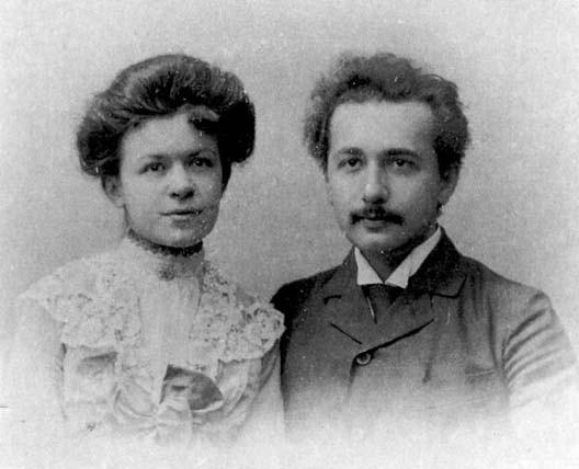 Mileva Maric et Albert Einstein, le jour de leur mariage, le 6 janvier 1903