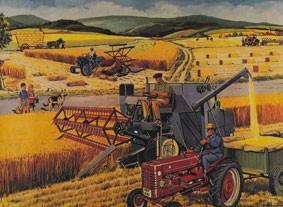 Le rêve de la ruralité moderne (d'après une gravure de manuel scolaire des années 1950)