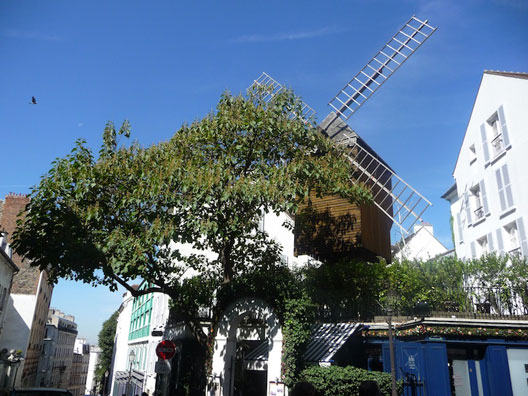 Le moulin du Radet (Montmartre, Paris), photo : François-Xavier Lenoir