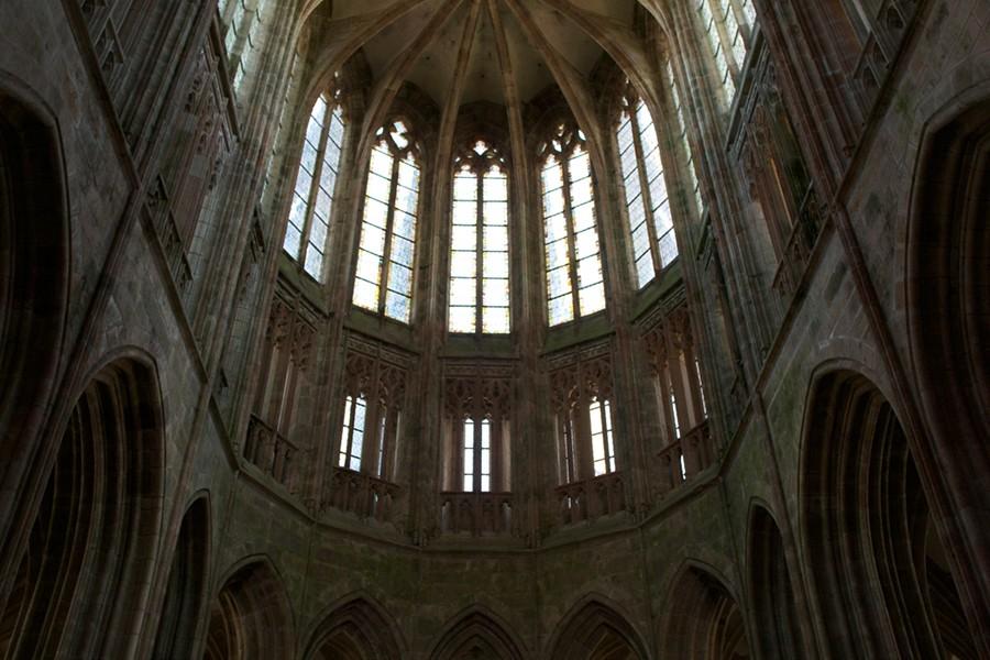 Chœur de l'abbatiale, Mont-Saint-Michel.
