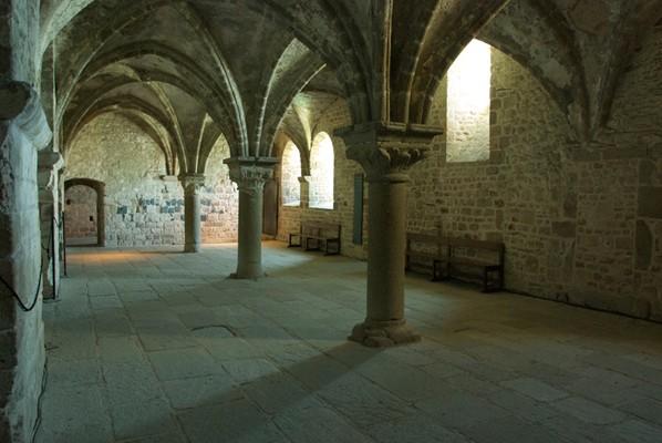 Promenoir des moines, XIe siècle, Mont-Saint-Michel.