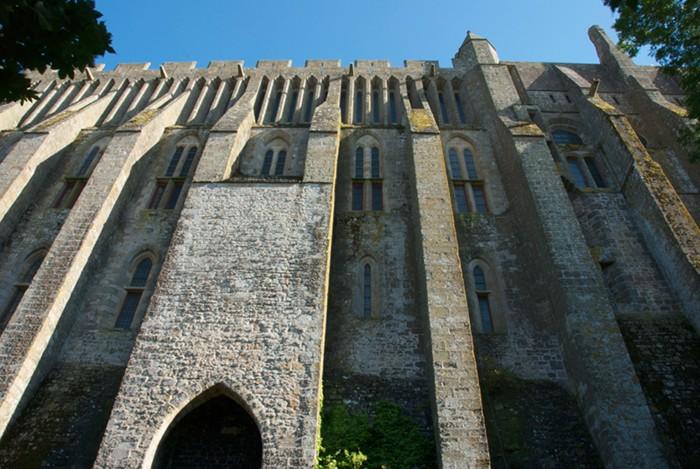 Mur nord de la Merveille, Mont-Saint-Michel.