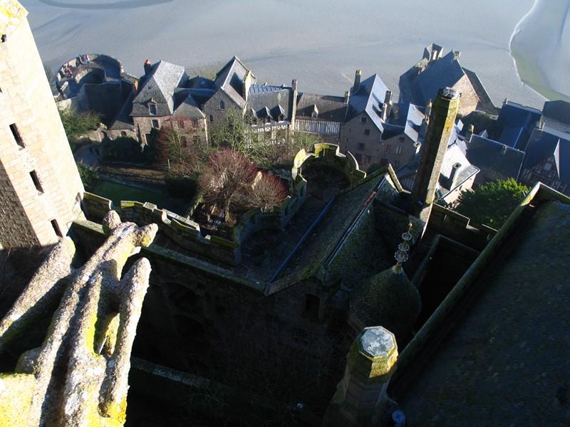 Village du Mont-Saint-Michel vu du Châtelet de Pierre le Roy.