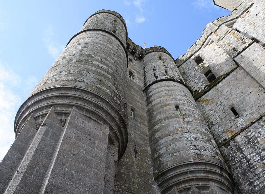 Abbaye du Mont-Saint-Michel, le châtelet, Pierre Le Roy, XVe siècle.